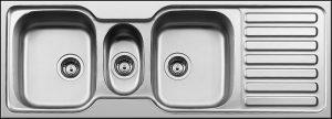 SDI-1325-DE triple bowl single drainer kitchen sink