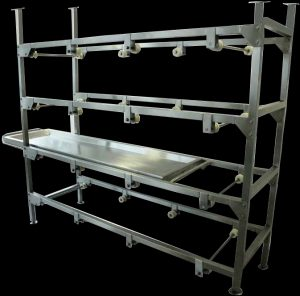 Mortuary body rack stainless steel T4 359839