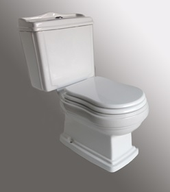 classic farm style closed couple top entry toilet