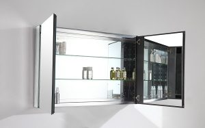 Large double bathroom mirror cabinet