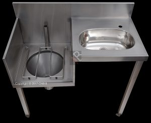hospital slop hopper basin combo left hand stainless steel supplier