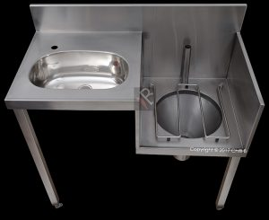 slop hopper stainless steel right hand wall mounted supplier