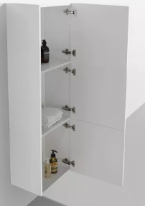 Gloss white side cabinet