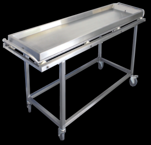 Mortuary transport trolley with body rack