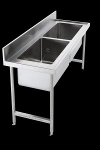 double bowl pot sink catering commercial stainless steel