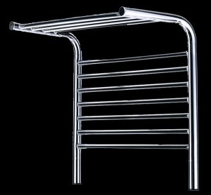 520mm Wall mounted shelf type heated towel rail