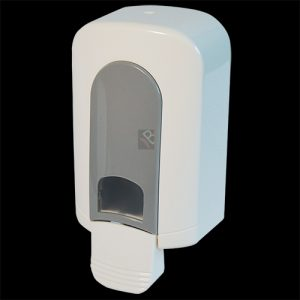 Small hand wash soap dispenser white plastic