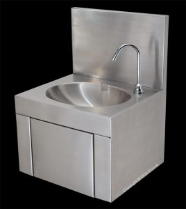 hands free basin complete c-hfb stainless steel knee operated