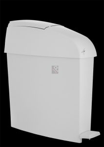 white plastic sanitary bin sani toilet ladies