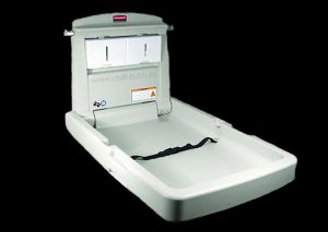 Rubbermaid vertical commercial industrial baby changing station