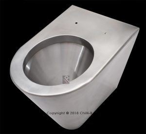 back to wall pan internal flanges high security toilet pan
