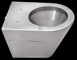 SS-PAN-BW-IFS stainless steel toilet service hatch toilet seat