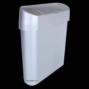 Hands free sanitary bin