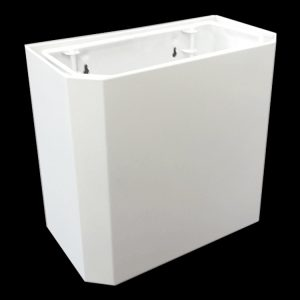 18.4L Small white wall hung waste bin