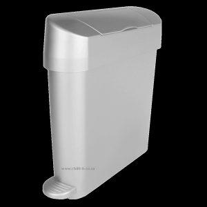 22L Slimline plastic sanitary bin