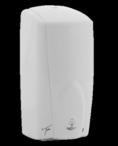 N-SDA-11-WHITE White hands free soap dispenser plastic