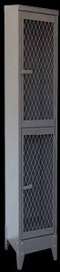 Steel ventilated mesh locker