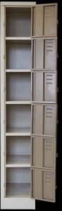 Small steel lockable multi cabinet vertical locker