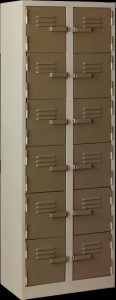 TR-LO20 multi tier twelve door steel cabinet locker