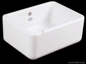 White contemporary ceramic 600mm farmhouse butler
