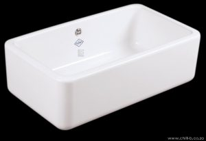 Large single contemporary ceramic butler sink