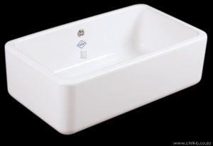 Large single contemporary ceramic butler sink