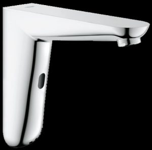 Wall mounted infra red sensor hands free tap