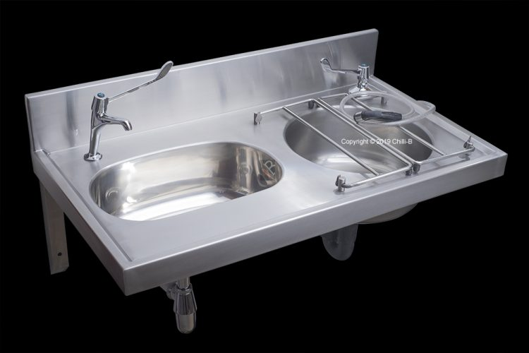 Medical drip sink and basin combo made from stainless steel