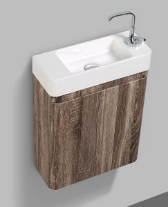 Milan small bathroom silver oak veneer vanity