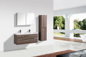 bathroom vanity silver oak cabinet mirror