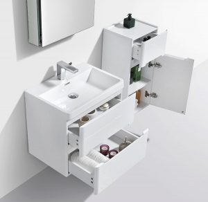 venice imported gloss white modern bathroom vanity