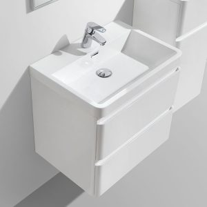 Milan 600 wall hung vanity drawers