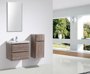 Milan single bathroom vanity and side cabinet