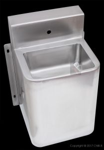 basin stainless steel prison wall hung