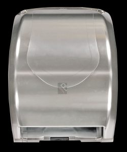Silver hands free paper roll dispenser