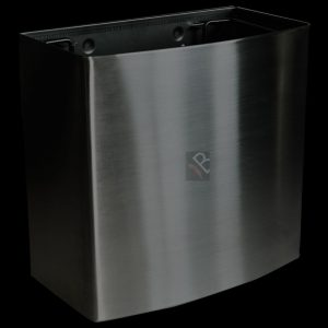 18L stainless steel waste bin black