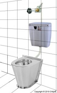 prison vandal proof cistern ceramic toilet