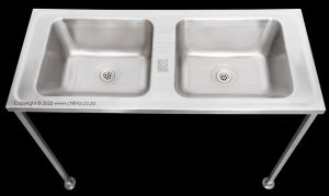 Stainless steel double laundry bowl