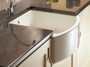 curved front butler sink ceramic