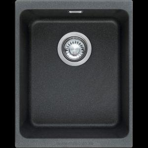 small black undermount under slung granite kitchen sink