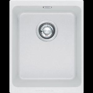 small white undermount under slung granite kitchen sink