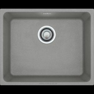 grey under mounted under slung granite kitchen sink