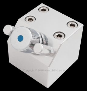 Hands free foot operated boxed foot valve