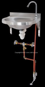 wall mounted foot valve complete set with hot and cold water mixer
