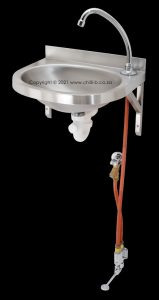 Calderoni wall mounted foot valve using cold water only