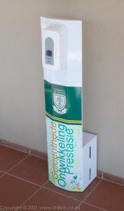 free standing hands free soap dispenser branded