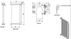 urinal divider dimensions