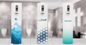 Free standing branded sanitizers