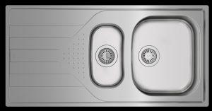 Starbright Teka 1.5 bowl inset kitchen sink